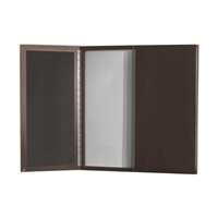 Aberdeen Visual Presentation Board in Mocha Laminate