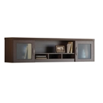 "Aberdeen 72"" Wall Mount Hutch in Mocha"