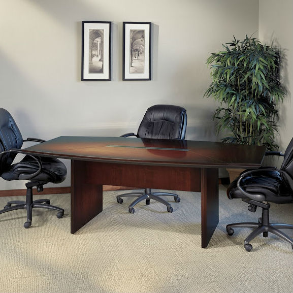 Mayline Corsica Boatshaped Conference Table In Mahogany CTCMAH - 72 conference table