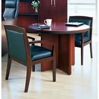 "Corsica 42"" Round Conference Table in Sierra Cherry"