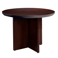 "Corsica 42"" Round Conference Table in Mahogany"