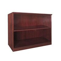 Corsica/Napoli 2-Shelf Bookcase in Sierra Cherry