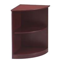 Corsica/Napoli 2-Shelf 1/4 - Round Bookcase in Sierra Cherry
