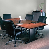 "CSII 72"" x 36"" Boat-Shaped Premier Conference Table"