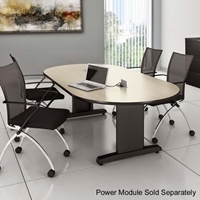 "CSII 72"" x 36"" Racetrack Premier Conference Table"