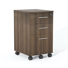 Medina Box-Box-File Pedestal in Textured Brown Sugar Laminate