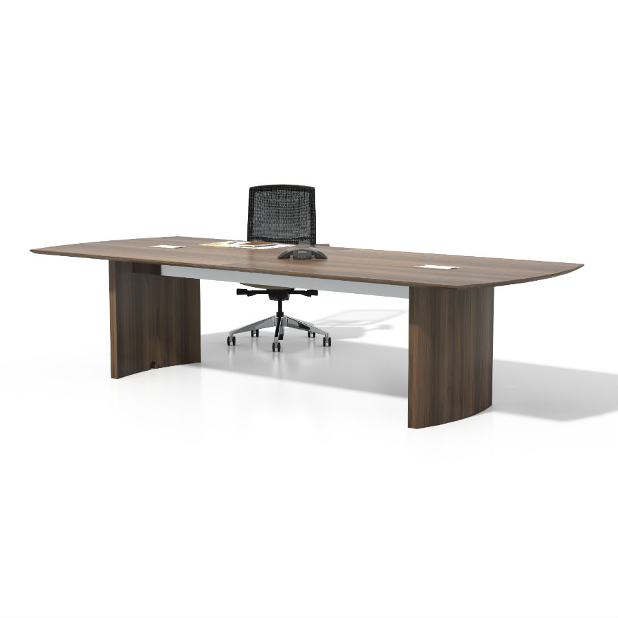 Mayline Medina Conference Table In Textured Brown Sugar Laminate - Medina conference table