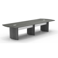 Medina 12 Conference Table in Gray Steel Laminate