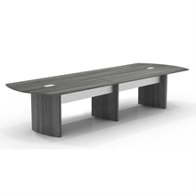 Medina 14' Conference Table in Gray Steel