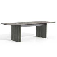 Medina 8 Conference Table in Gray Steel