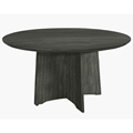 Medina 48 Round Meeting Table in Gray Steel