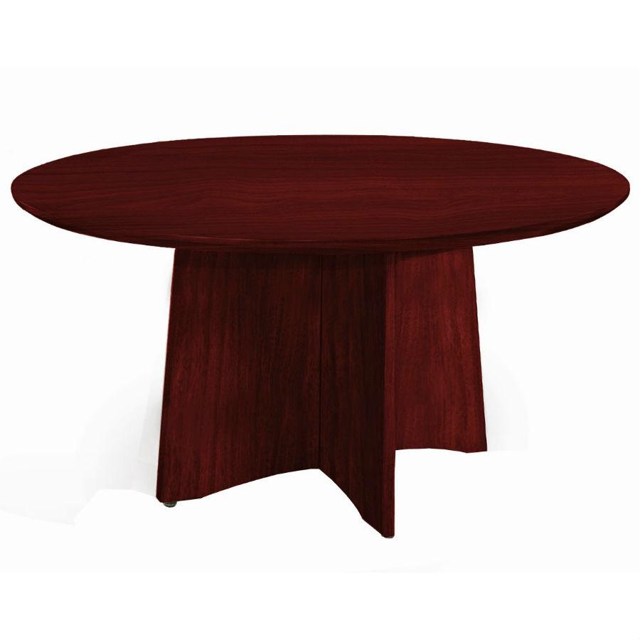 ... Medina 48 Round Meeting Table In Mahogany   MNCR48LMH ...