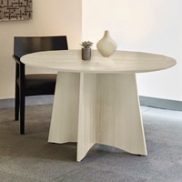 Medina 48 Round Meeting Table in Textured Sea Salt