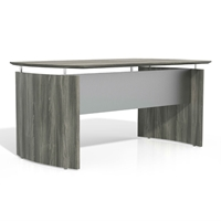 "Medina 63""W Desk in Gray Steel Laminate"