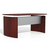 "Medina 63""W Desk in Mahogany Laminate"