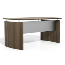 Medina Curved Desk in Textured Brown Sugar