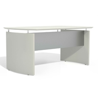 Medina Curved Desk in Textured Sea Salt
