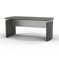"Medina 72""W Desk in Gray Steel Laminate"