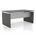 Medina Straight Front Desk in Gray Steel