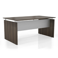 "Medina 63"" Straight Front Desk in Textured Brown Sugar Laminate"