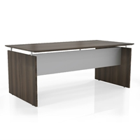 "Medina 72"" Rectangular Desk in Textured Brown Sugar Laminate"