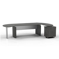 "Medina 72""W Desk in Gray Steel"