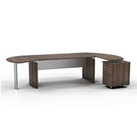 "Medina 72""W Desk in Textured Brown Sugar Laminate"