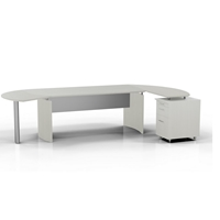 "Medina 72""W Desk in Textured Sea Salt Laminate"