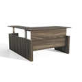 Medina Height-Adjustable L-Shaped Desk in Gray Steel