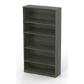 Medina 5-Shelf Bookcase in Gray Steel