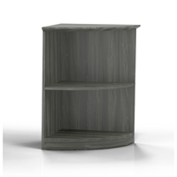 Medina 1/4 Round Bookcase in Gray Steel