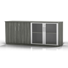 Medina Low Wall Cabinet in Gray Steel