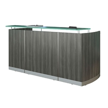 Medina Reception Desk in Gray Steel