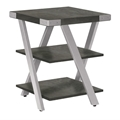 Mirella End Table in Stone Gray