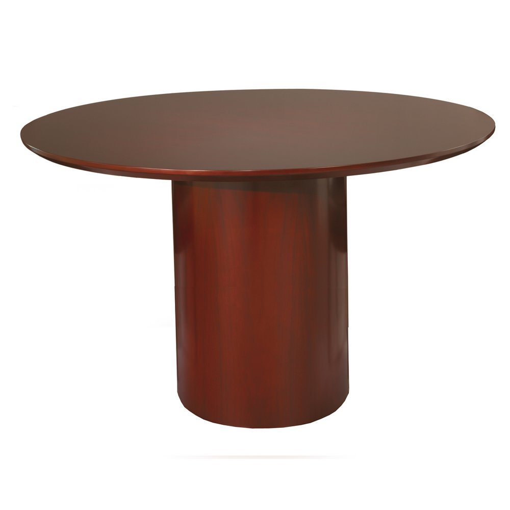 Mayline Napoli Round Conference Table In Sierra Cherry NCRCRY - Napoli conference table