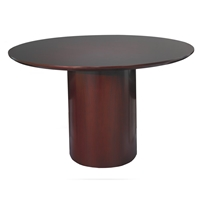 Napoli Round Conference Table in Mahogany