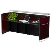 Napoli Reception Desk in Mahogany