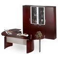 Napoli Desk Suite with Right Return in Sierra Cherry