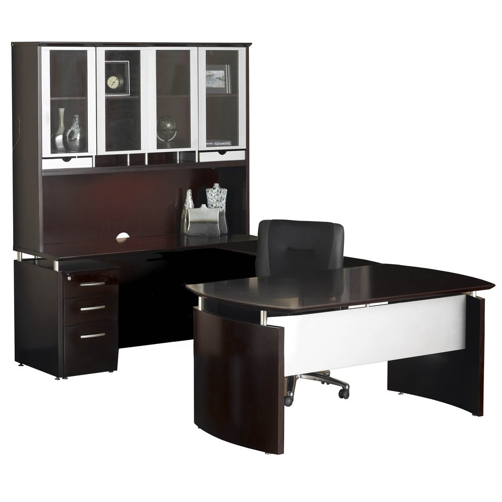 Napoli 72 Left Handed U Shaped Desk With Hutch In Gany