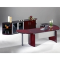 Napoli Desk Suite with Left Return in Sierra Cherry