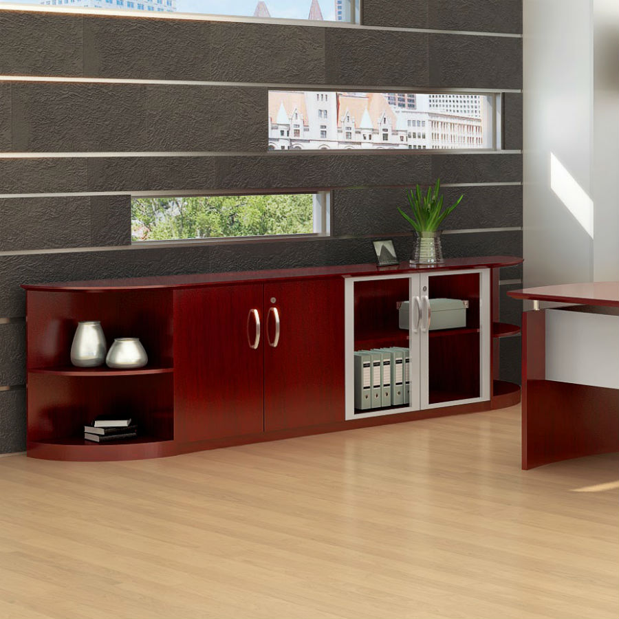 ... Corsica/Napoli Low Wall Cabinet In Sierra Cherry   VLCCRY