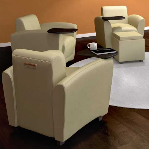 Astonishing Mayline Santa Cruz Mobile Lounge Chair Vccm Dew Office Dailytribune Chair Design For Home Dailytribuneorg