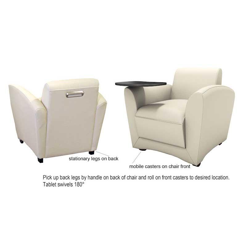 Remarkable Mayline Santa Cruz Mobile Lounge Chair Vccm Dew Office Dailytribune Chair Design For Home Dailytribuneorg