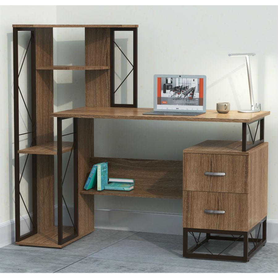 SOHO Computer Desk With Shelves #1002
