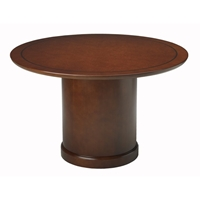 "Sorrento 48"" Round Conference Table in Bourbon Cherry"