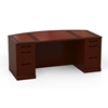 Sorrento Bow Front Desk in Bourbon Cherry