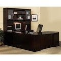 Sorrento Right-Handed Bow Front U-shaped Desk in Espresso