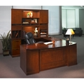 Sorrento Left-Handed Bow Front U-shaped Desk in Bourbon Cherry