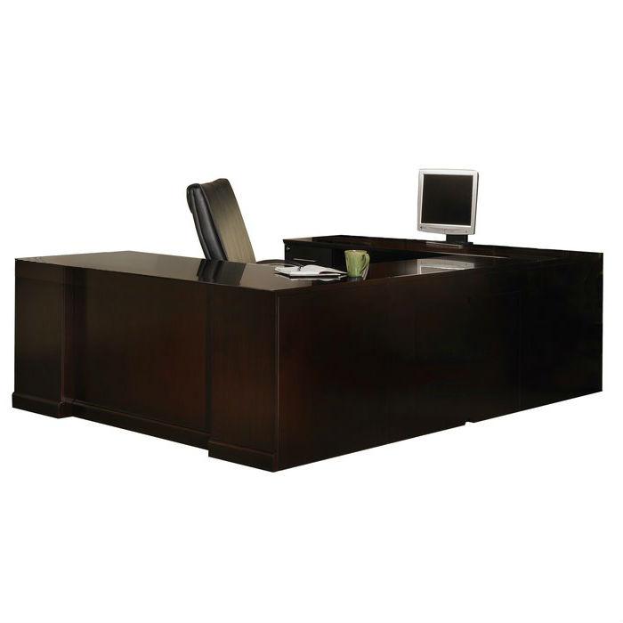 mayline - sorrento straight-front left-handed u-shaped desk in