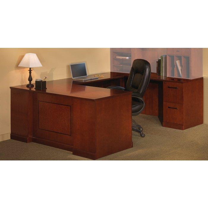 sorrento righthanded ushaped desk in bourbon cherry